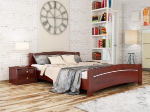 Кровать Венеция (щит) - красное дерево (104)