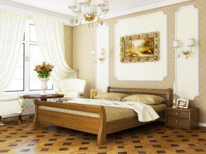 Кровать Диана (щит) - светлый орех (103)
