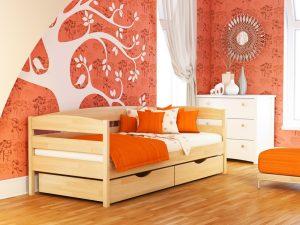 Кровать Нота Плюс (щит) - бук натуральный (102)