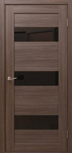 Дверное полотно AN-10_GREY_Steklo_black