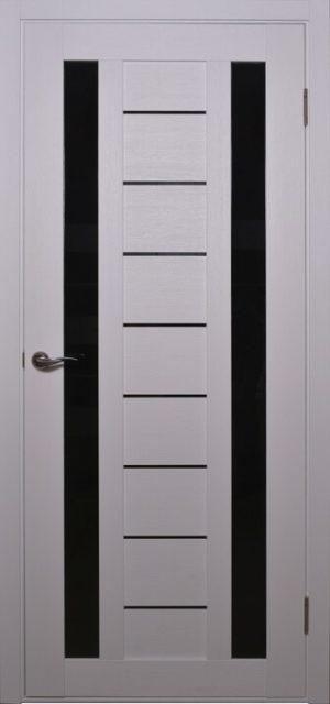 Дверное полотно AN-4_MOROZ_Steklo_black